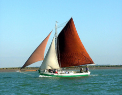 Oyster smack BOADICEA CK213 was built in 1808 in Maldon and is still going strong