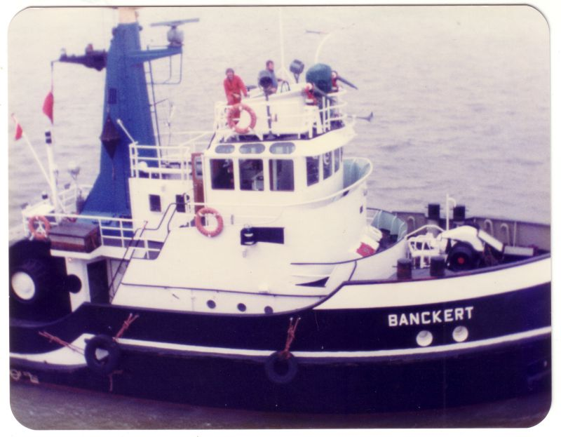 Dutch tug BACKERT IMO No. 6516805 Built 1965. 227 tons gross. Date: c15 April 1983.