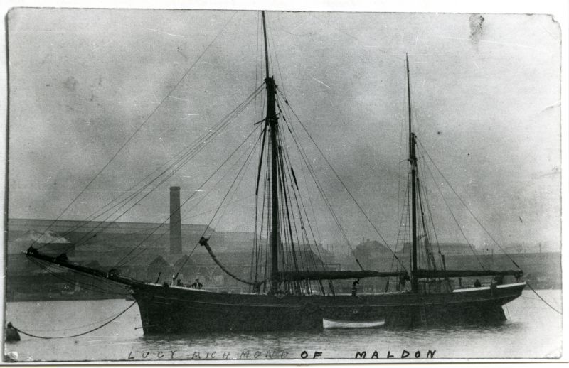 LUCY RICHMOND of Maldon. Built Ipswich 1875, Official No. 68313. 