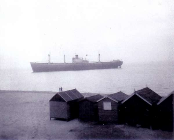MICHALAKIS off the beach at West Mersea Date: c15 February 1958.