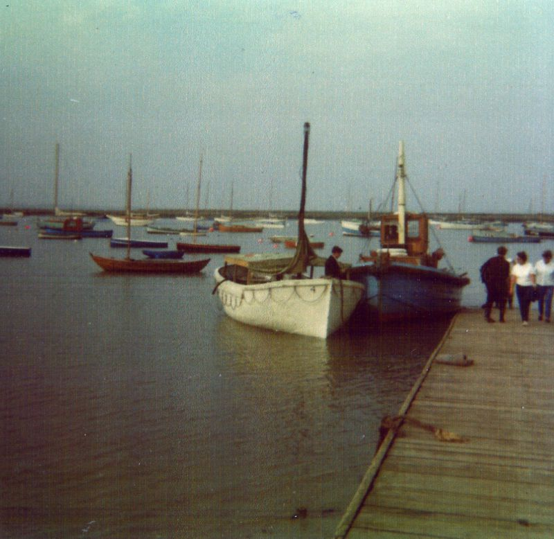 Lifeboat from SUEVIC and the SCEPTRE at the Causeway, West Mersea Date: cAugust 1969.