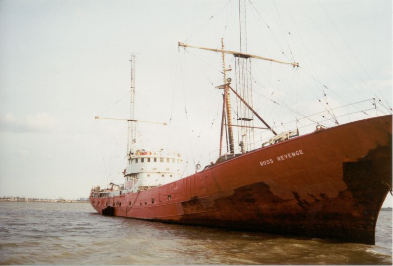ROSS REVENGE laid up in the River Blackwater Date: c1994.
