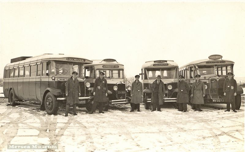 Underwood's bus fleet the day before it was taken over by Eastern National