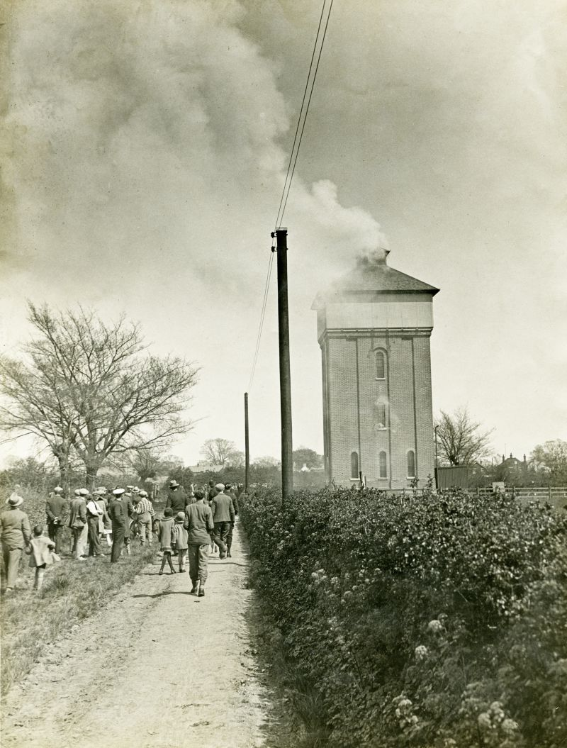 Water tower fire 1931