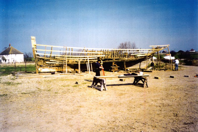 Rebuilding PIONEER CK18. Before the re-build could start, a full set of lines had to be constructed. 