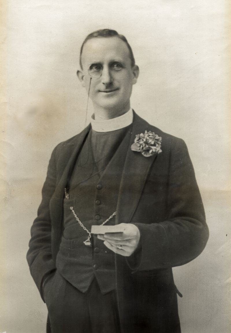 Reverend Charles Pierrepont Edwards, M.C., Vicar of West Mersea 1898-1946. Photograph loaned by West Mersea Parish Church.