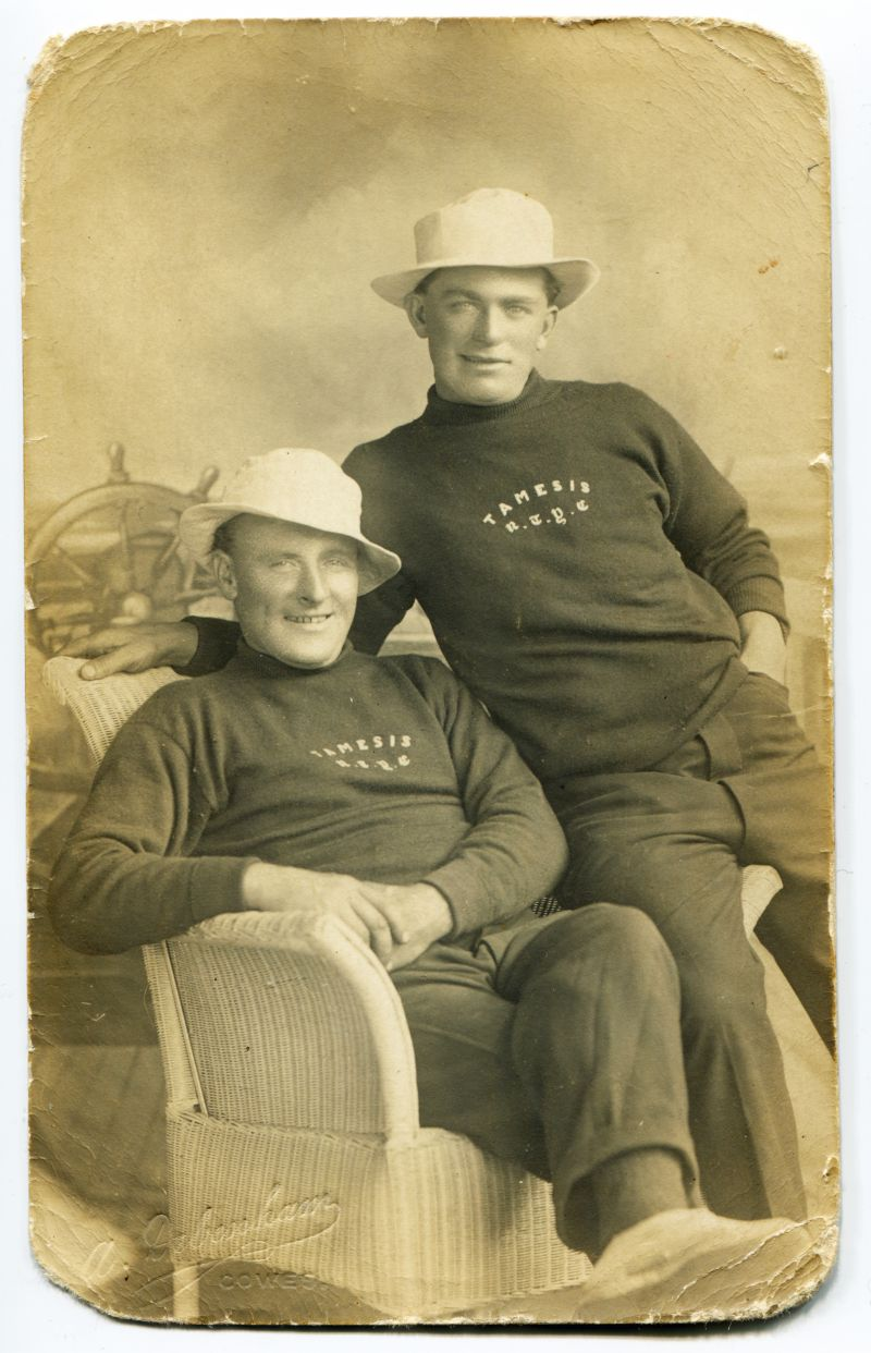 Joe Farthing on the right. Jersies from TAMESIS. Photo by A. Debenham, Cowes. 