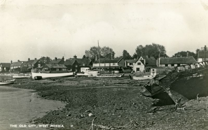 The Old City, West Mersea. Postcard mailed 29 June 1954. 
