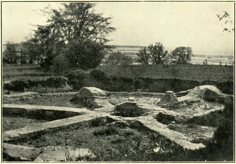 The Wheel Tomb or mausoleum, discovered off Beach Road, West Mersea, in 1896. Now largely destroyed.