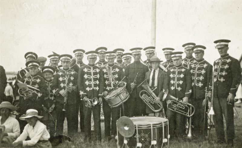 Mersea band playing for the Regatta around 1920