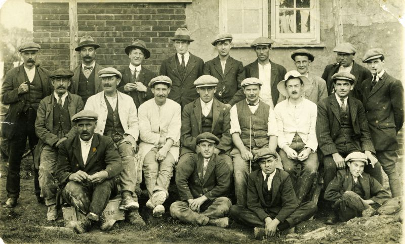 Clifford White men who built the Council Houses in Barfield Road c1920. Names as given by Mary Stevens are 