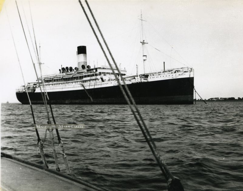 VOLTAIRE laid up in River Blackwater off Bradwell 1931 Date: 1931.