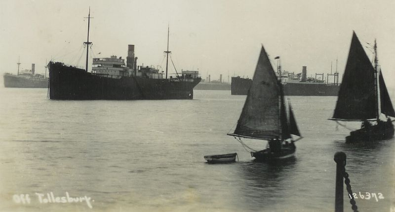 View from Tollesbury Pier. Postcard 126372.