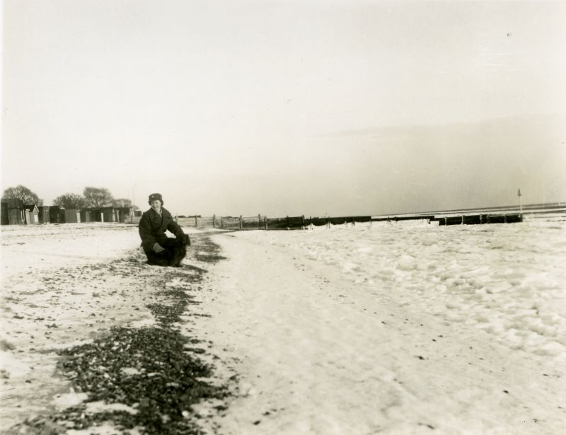 Frozen beach and sea at Mersea January 1940. 