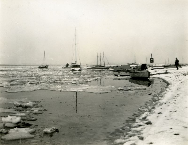 Frozen sea at Mersea. Photo by Howard Winch, who wrote on back: