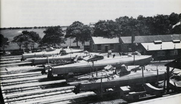 Coastal Motor Boat base at Osea Island at the end of WW1. Photo from Imperial War Museum.