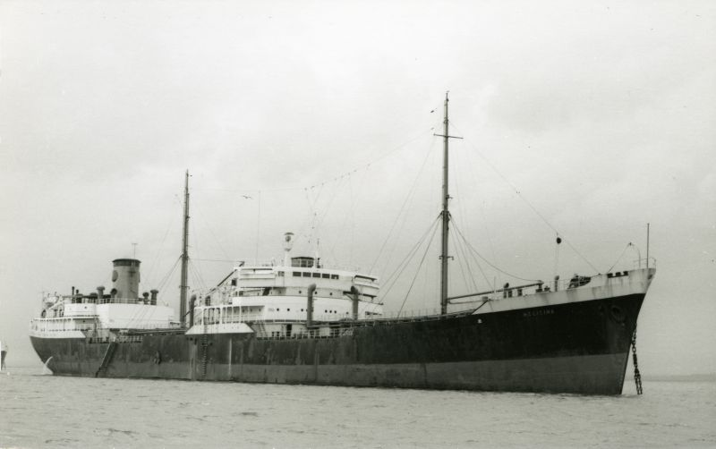 HELICINA, one of a pair of fast tankers owned by Anglo Saxon Petroleum Company (Shell tankers). Built 1946 and scrapped after she left the River Blackwater in April 1962. Date: 1959.