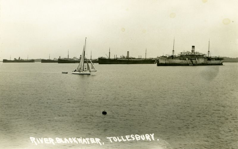 River Blackwater Tollesbury. Postcard not mailed.