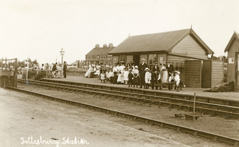 Tollesbury Station. Postcard mailed 7 August 1915