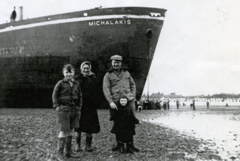 MICHALAKIS on the mud near the bottom of Empress Avenue.