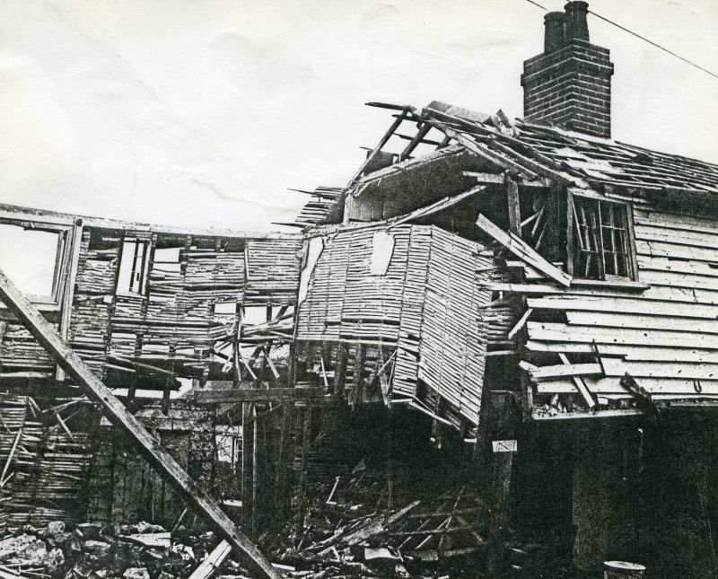 Bomb damage at The Square West Mersea Oct 1940