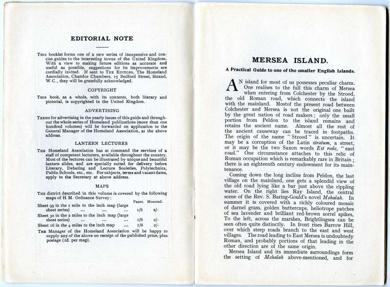 Homeland Handy Guides Mersea Island. First Edition. Page 4. 