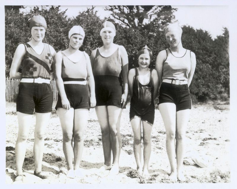 On the beach at bottom of Beach Road.
