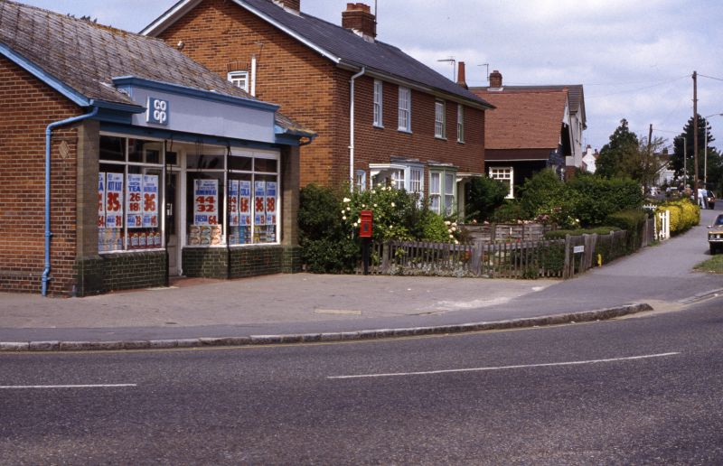 Co-op store on the corner of Barfield Road and Kingsland Road. 