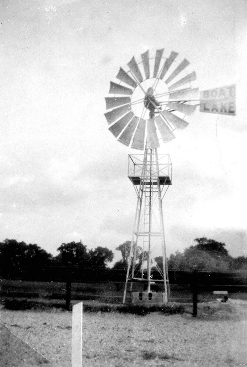 Alec Mortlock built it - the windmill at the Boating Lake. 