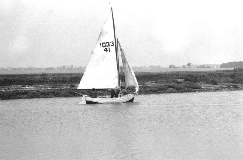 The BUCCANEER, owned by Sid Hewes. Built Brightlingsea, same builder as BOY GEORGE. Sail number 1033 41. 