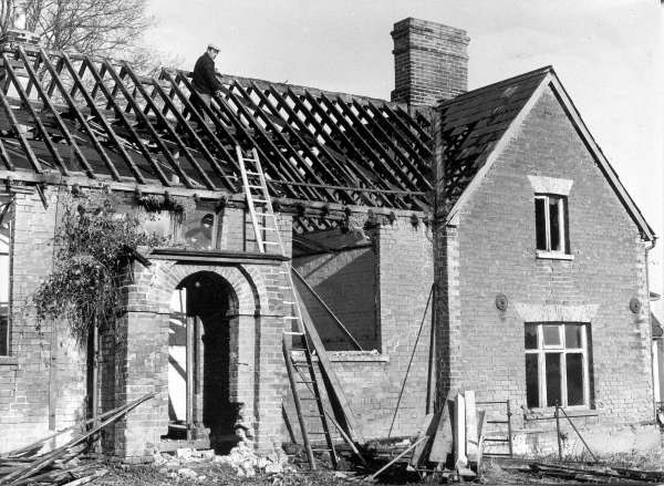 Peldon old school being demolished c1965