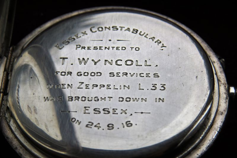 29. ID GWC_031 Essex Constubulary. Watch presented to T. Wyncoll for good services when Zeppelin L33 was brought down in Essex on 24.9.16
