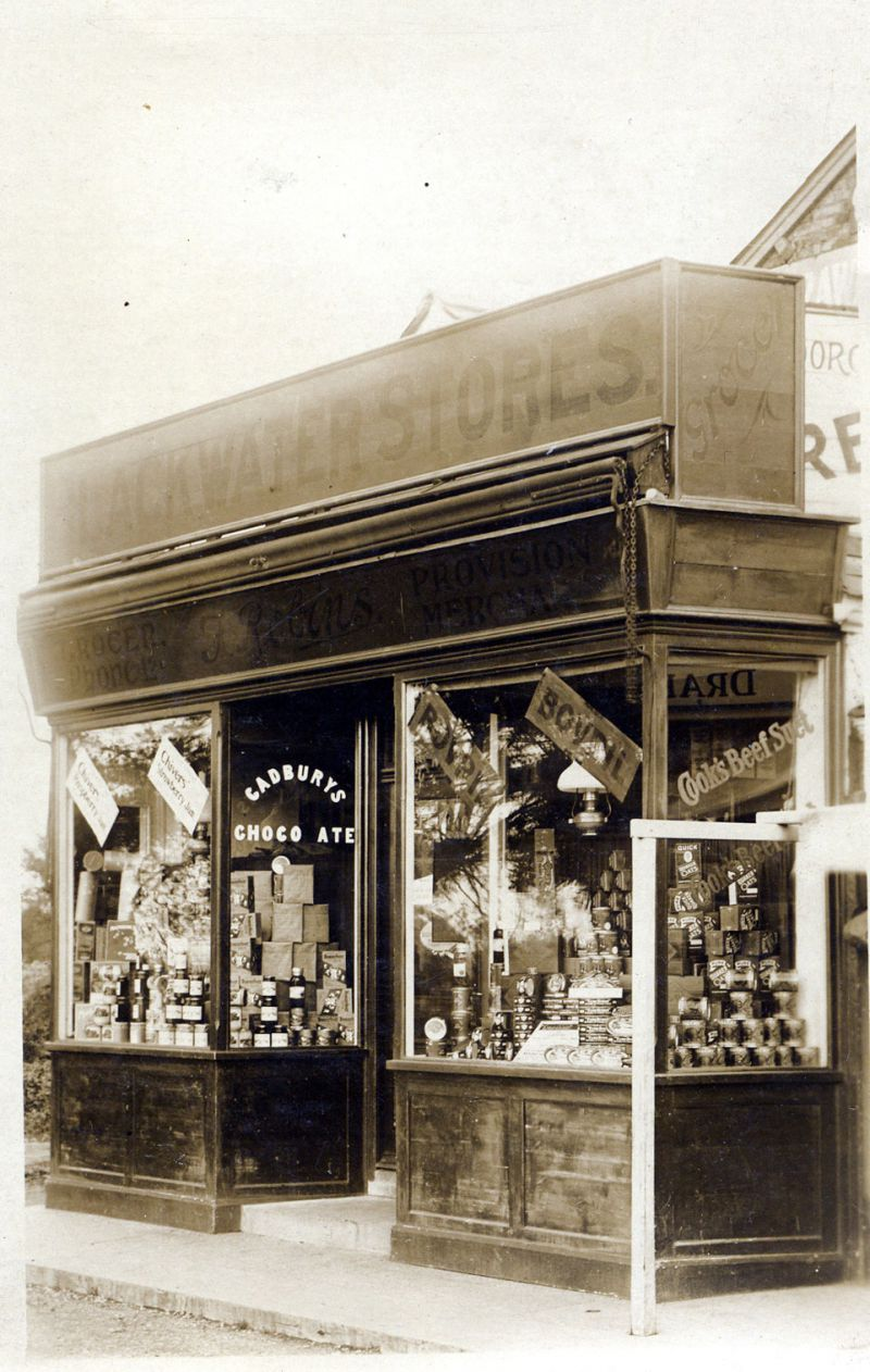 Blackwater Stores, Church Road. Later to become Robins Stores. 