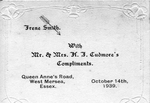 Jack and Irene Cudmore née Smith Wedding 