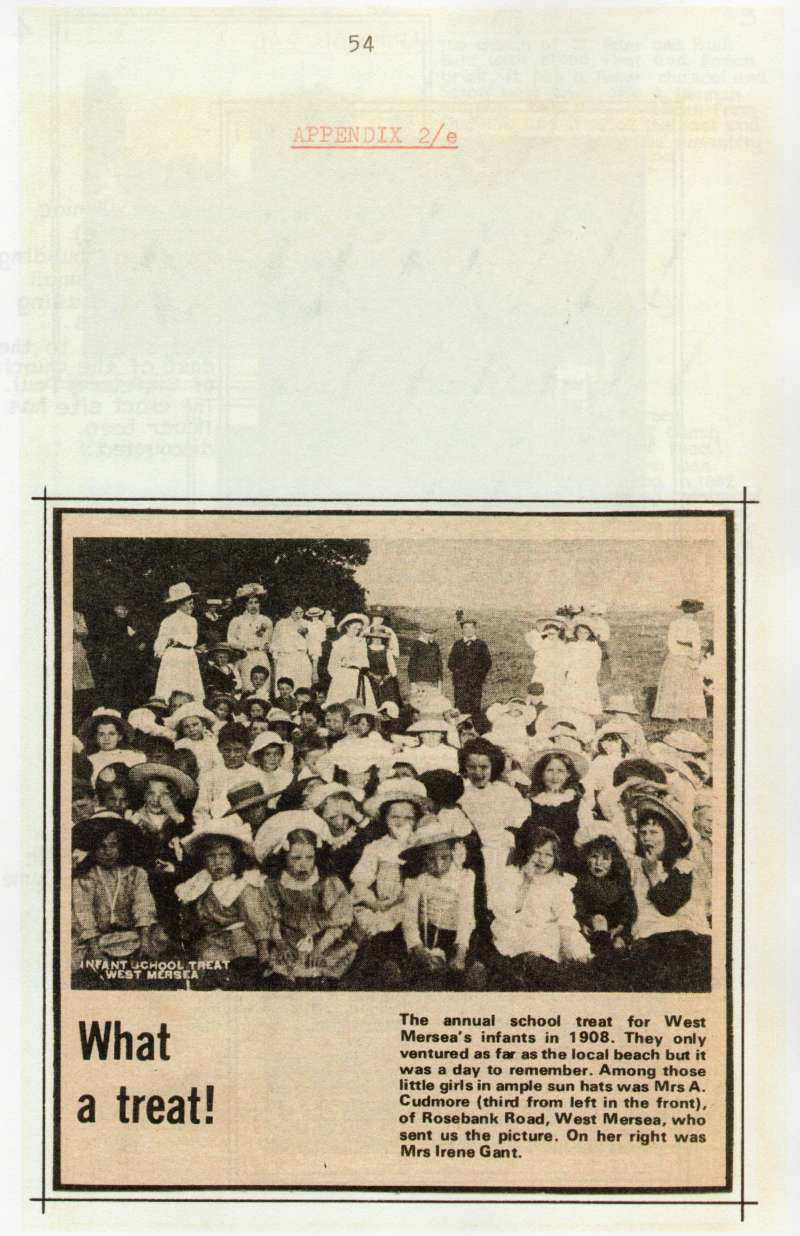 A History of Education in West Mersea by B.E. Wright, page 54