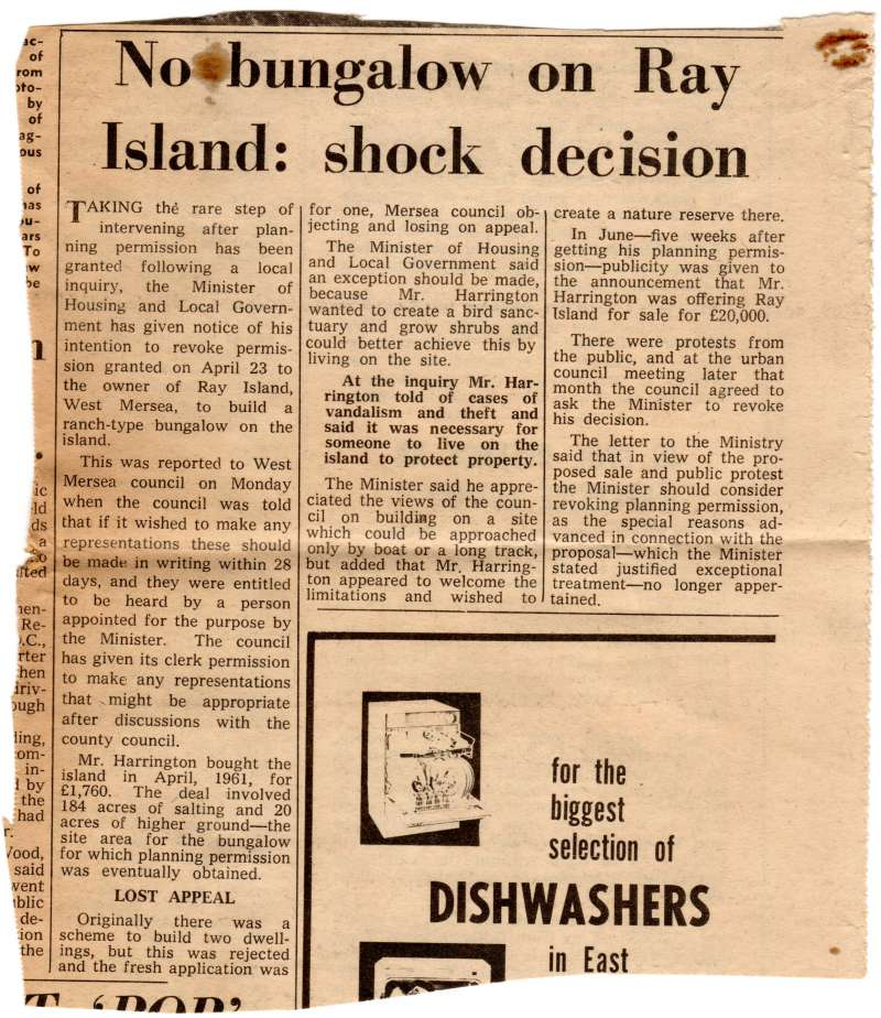 No bungalow on Ray Island: shock decision.
