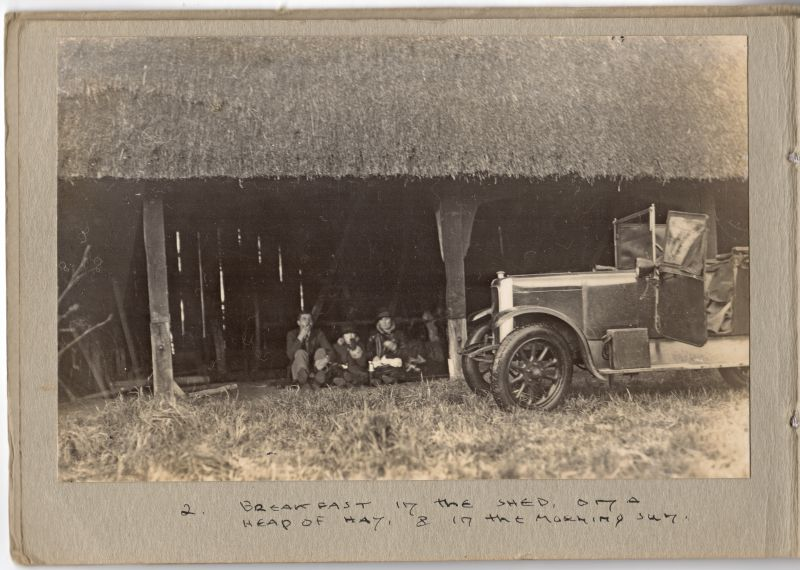 2. Breakfast in the shed on a heap of hay & in the morning sun.