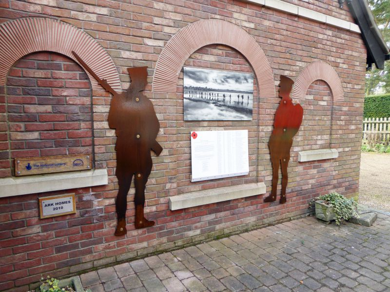 Memorial soldier and sailor at Mersea Museum
