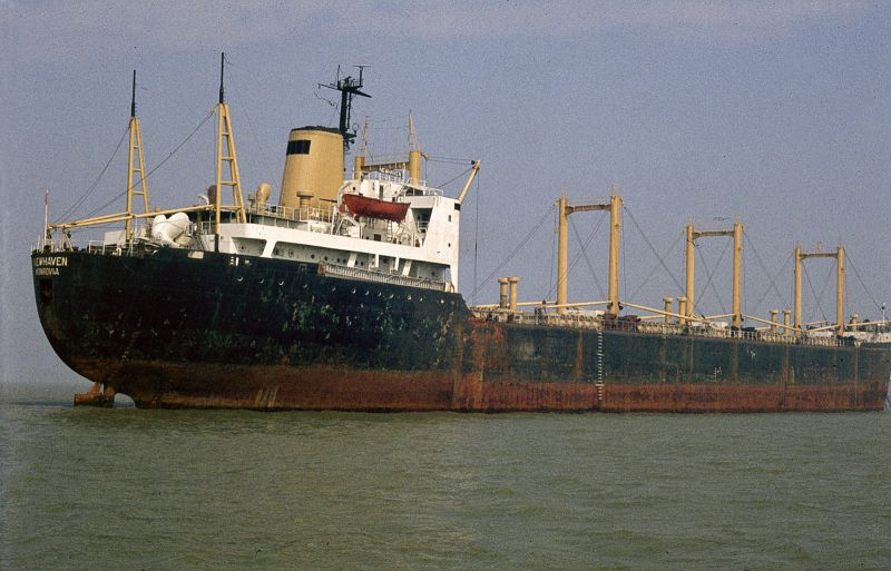 NEWHAVEN laid up in the River Blackwater. Date: 5 September 1982.