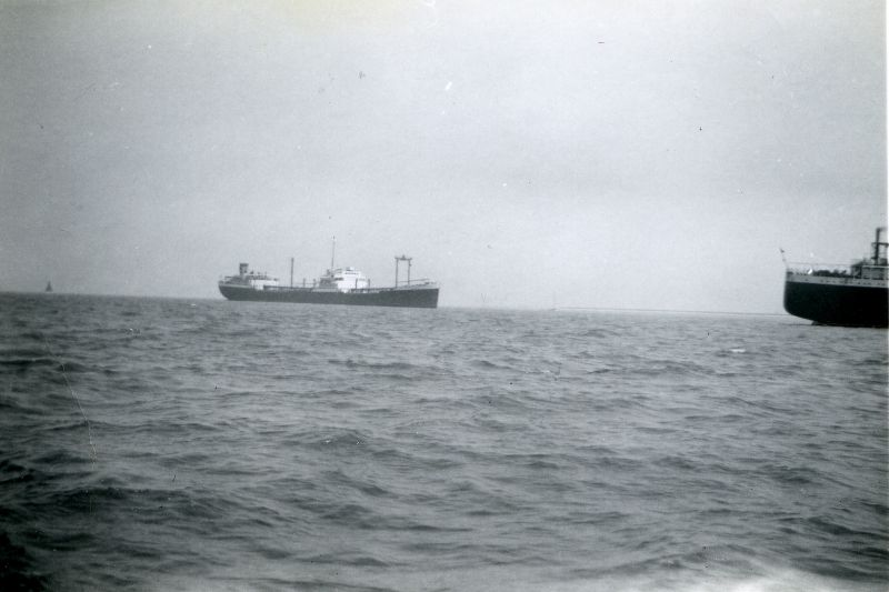 Shell tankers laid up in River Blackwater. The central vessel is thought to be NACELLA. Date: c1959.
