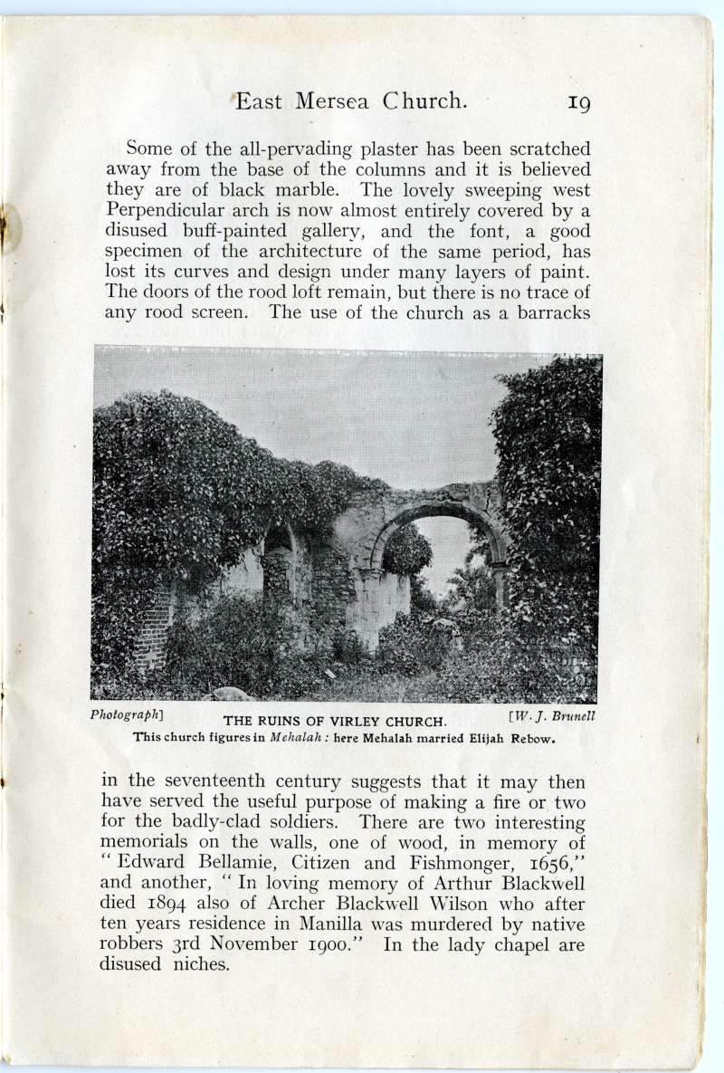 Homeland Handy Guides - Mersea Island. Page 19. Virley Church. 