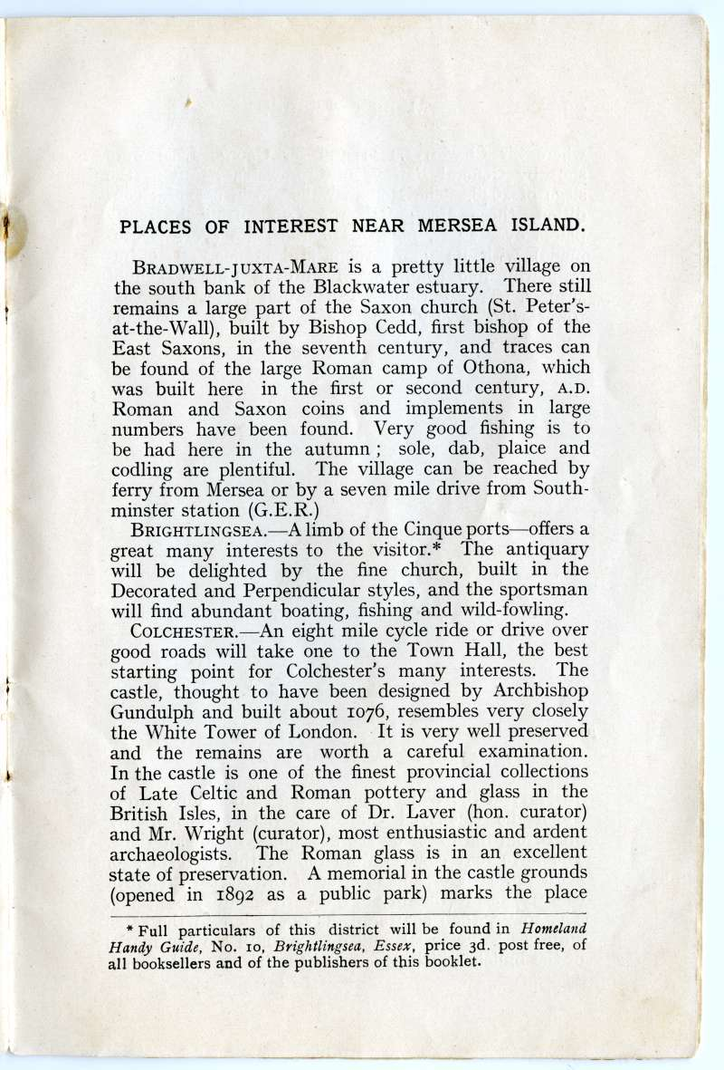 Homeland Handy Guides - Mersea Island. Page 21. 