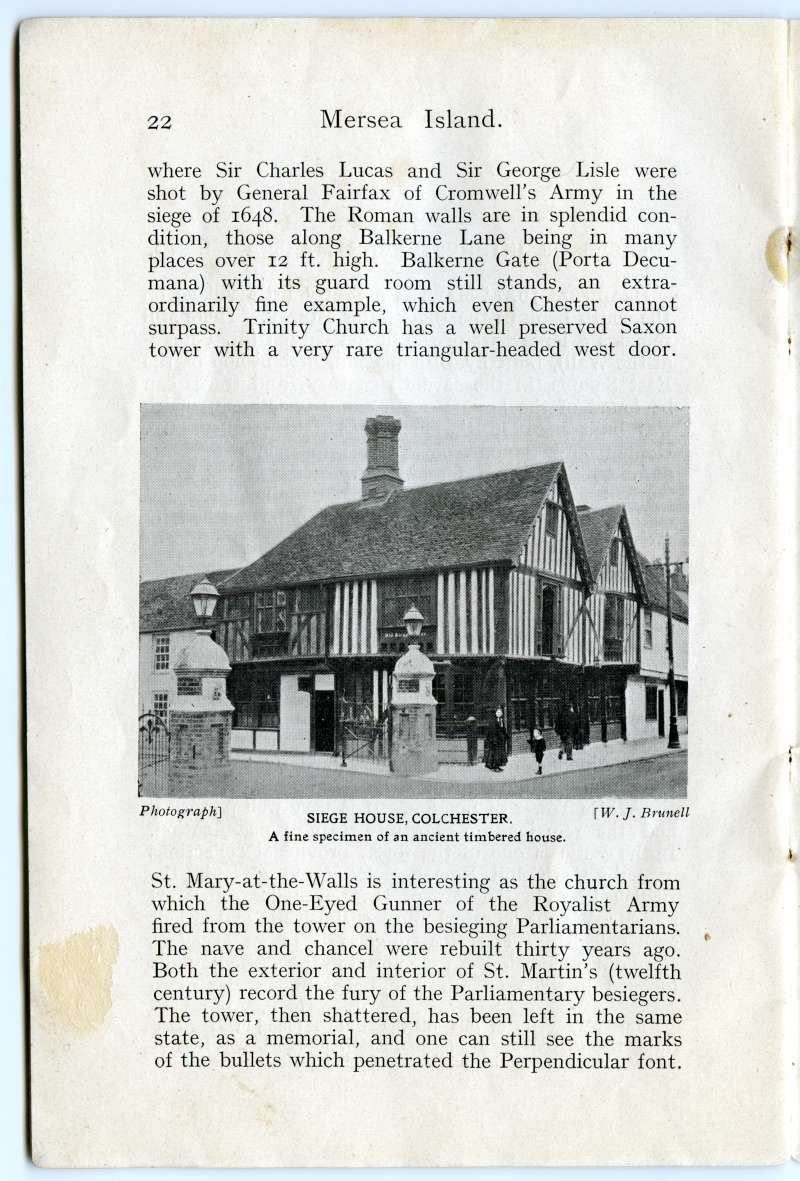 Homeland Handy Guides - Mersea Island. Page 22. Siege House, Colchester 
