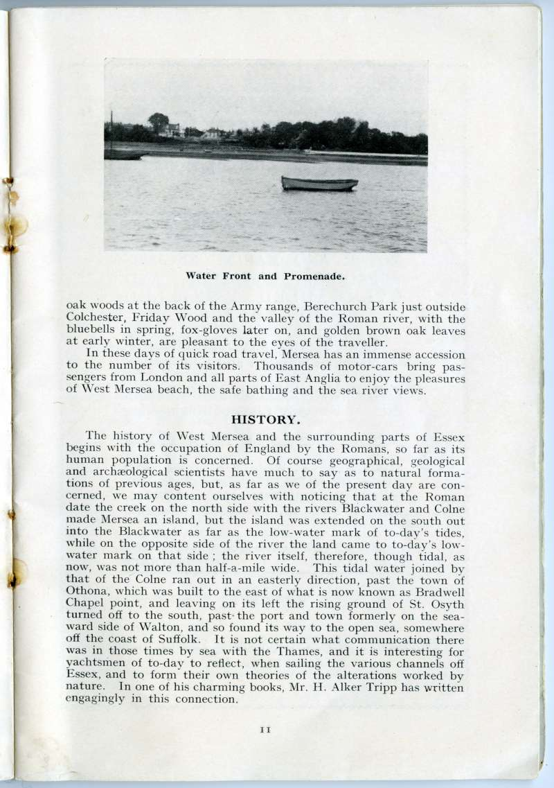 West Mersea Official Guide. Page 11. Water front and promenade. 