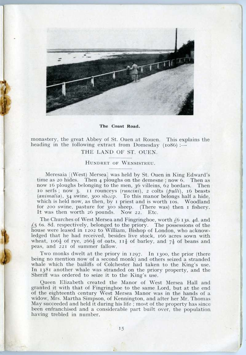 West Mersea Official Guide. Page 15. Coast Road. 