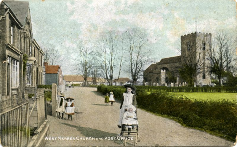 Church Road, West Mersea, around 1906