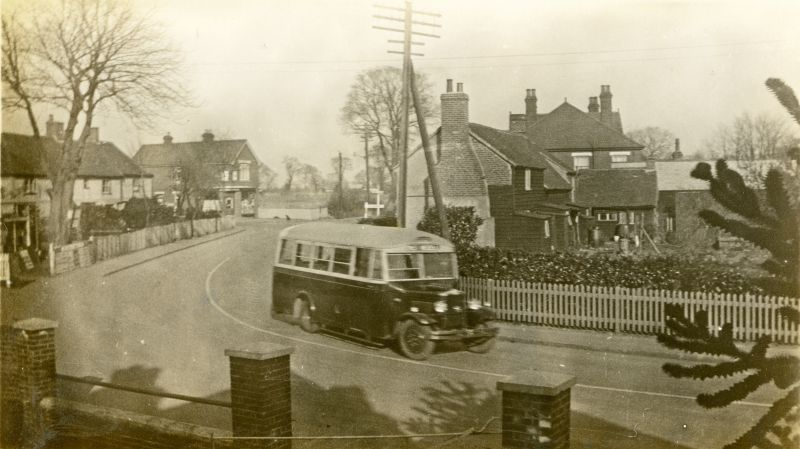 Queens Corner from Upland House. 