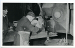 2. ID BF70_001_026_001 Punching a shell plate at Rowhedge Shipyard on a punch and shears press.