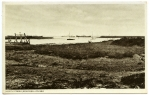 13. ID IA002880 North Creek, Bradwell-on-Sea. The ship on the left behind the posts is probably the passenger liner VOLTAIRE, which was laid up in the Blackwater 15 October...