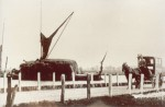 139. ID SS010061 One of the earliest photographs we have of the island. Stackie barge KEEBLE and Mr Underwood's carrier's cart on the Strood, Mersea Island. There were many ...